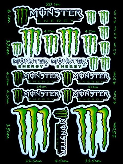 STICKERS MONSTER ENERGY 2