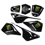 KIT DECO STICKERS MONSTER PW80 PIWI 80 YAMAHA, image N°1